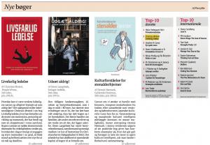 Livsfarlig ledelse debuterer som nr. 2 på Dagbladet Børsens bestsellerliste 14. juni 2013.