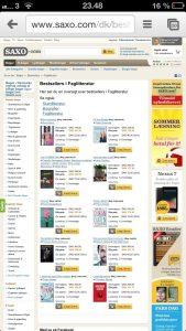 Bestseller: Livsfarlig ledelse nr. 10 på Saxo.coms samlede bestsellerliste over faglitteratur