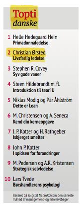 Livsfarlig ledelse nr. 2 på Dagbladet Børsens bestsellerliste 21. juni 2013