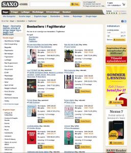 Nr. 7 på Saxo.coms bestsellerliste over al faglitteratur solgt i Danmark per 28. juni 2013
