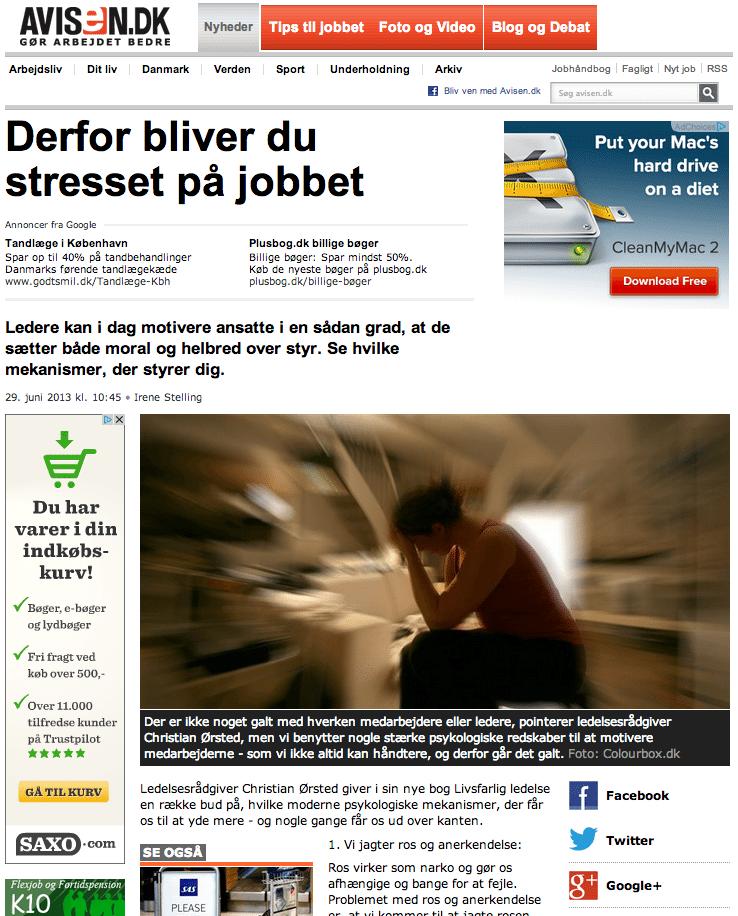 Avisen.dk: Derfor bliver du stresset på jobbet